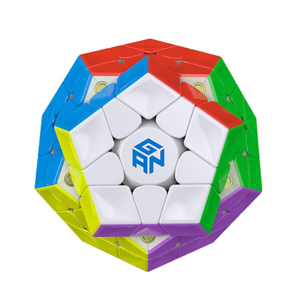 GAN 3x3 Cube magnétique 3x3x3 Megaminx Cube magnétique 3 couches vitesse Cube professionnel Puzzle jouets pour enfants jouet cadeau
