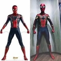 Avengers Infinity War Iron Spiderman Bodysuit Costume Cosplay Avengers Spider Man Superhero Peter Parker Bodysuit Suit Jumpsuits