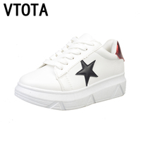 VTOTA Canvas Shoes Women Zapatillas Mujer Casual Shoes Flats 2017 Lace UP Wedges Platform Shoes Zapatos