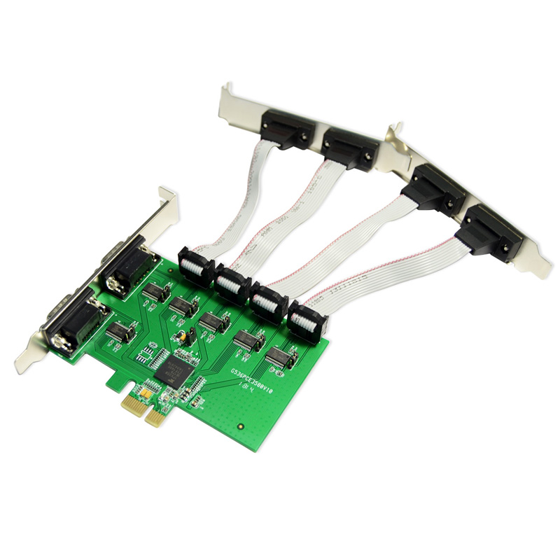PCI-e to 6 RS232 DB9 Ports Card for POS machine multi COM Ports Serial PCI Express converter