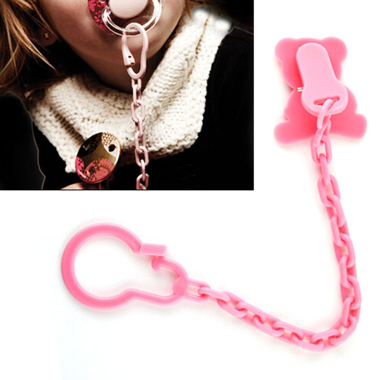 Little Babies Nipple NUK PP Made Color Random With Chain Clip For Fixing Drop Shipping BB-201-Random