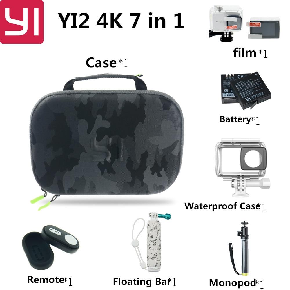 7 in 1 <font><b>Xiaomi</b></font> <font><b>Yi</b></font> 2 4k Action Camera Accessories Set with Waterproof Case <font><b>Bluetooth</b></font> Selfie Monopod Camera <font><b>Bluetooth</b></font> Remote For <font><b>Yi</b></font>