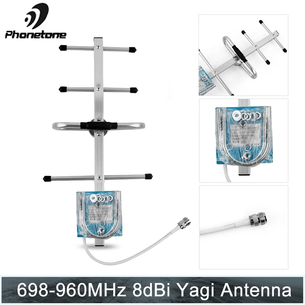 700/800/850/900MHz 2G GSM Repeater 8dBi Gain Outdoor Directional Yagi Antenna For Modem Home Cellular Signal Booster Repeater