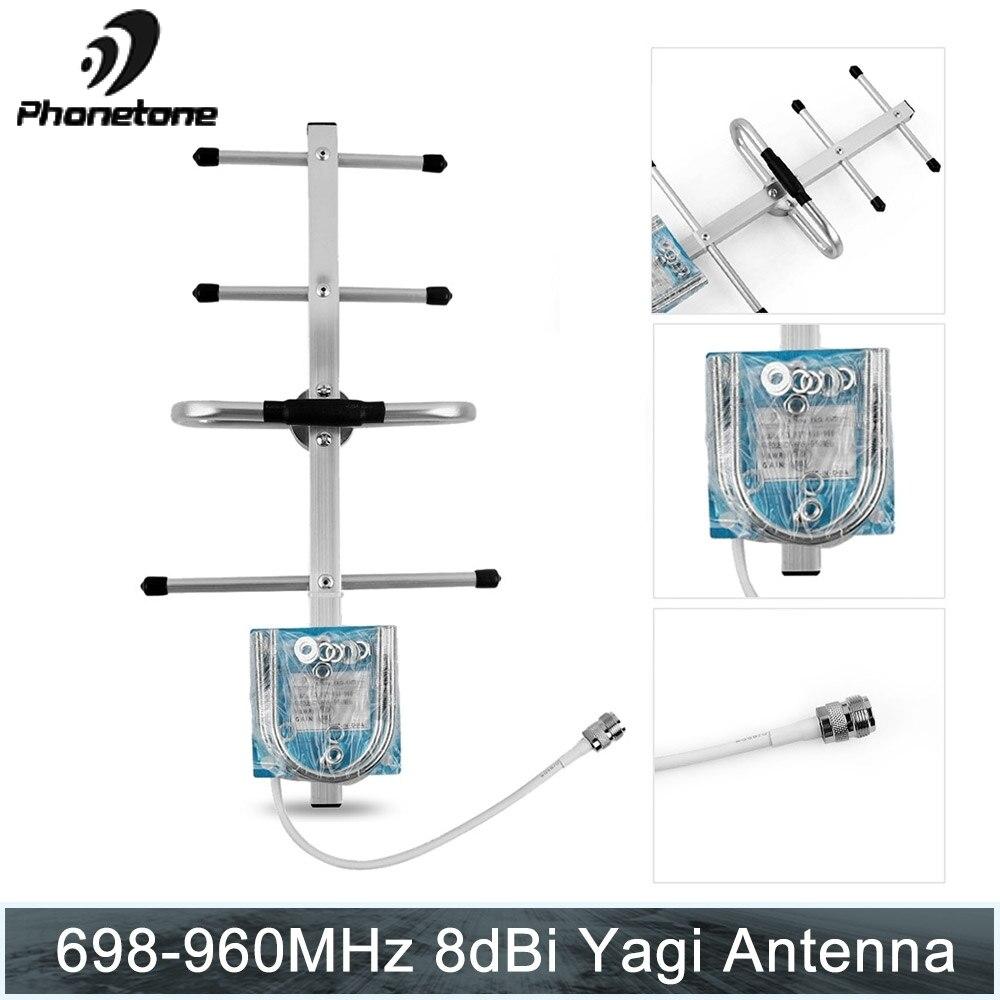 700/800/850/900MHz 2G GSM répéteur 8dBi Gain antenne Yagi directionnelle extérieure pour Modem répéteur de Signal cellulaire à domicile
