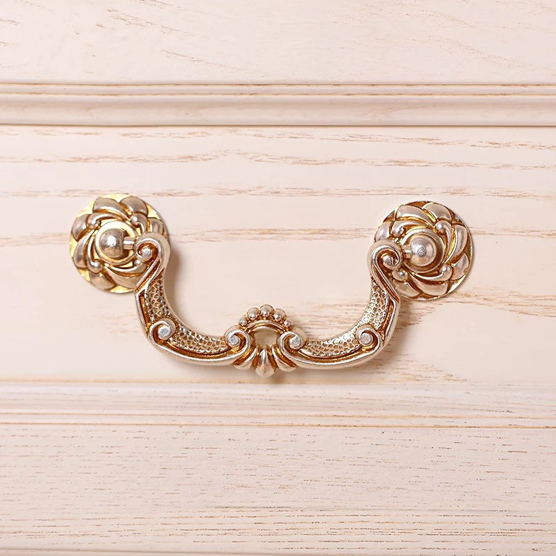 96128mm european antique wardrobe handles cabinet door handles ancient silver carved drawer pull knobs