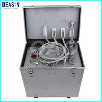 Переносная стоматологическая установка с высокой и низкой скорости hp трубы, 3 шприц, воздушный компрессор, бутылка для воды, ноги Управление