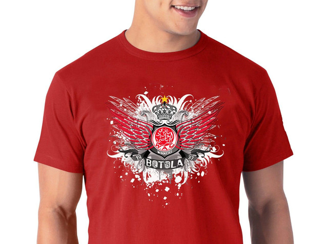 52f35cd5575 Wydad Athletic Club of Casablanca WAC Morocco Football Soccer T shirt  botola 19 2018 Summer Men S Brand Clothing O-Neck