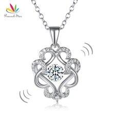 Павлин Star Vintage Стиль Танцы камень кулон Цепочки и ожерелья Твердые стерлингового серебра 925 CFN8082