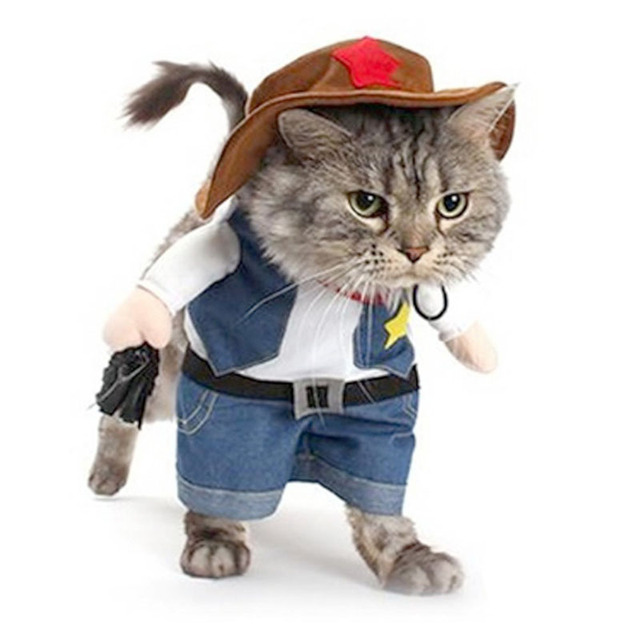 pet dog cat halloween costumes dog west cowboy uniform suit puppy clothes for christmas party special