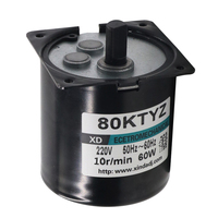 80KTYZ AC motor 220V motor micro slow speed machine 60W permanent magnet synchronous motor small motor Adjustable direction