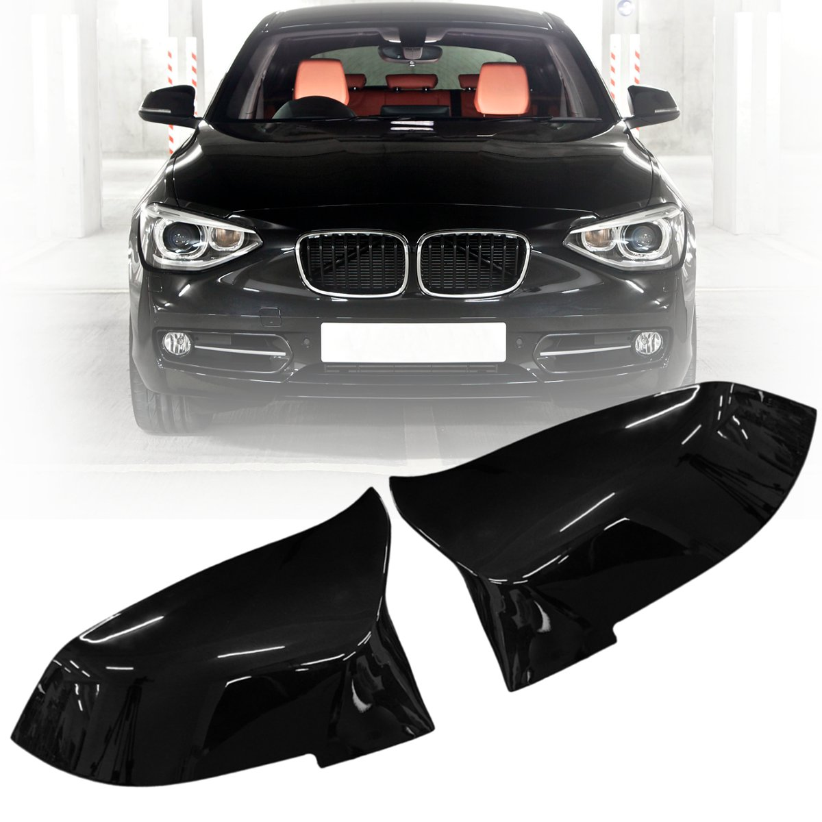 Pair Gloss Black Red Blue White Rearview Mirror Cover for BMW F20 F21 F22 F30 F32 F36 X1 F87 M3 2012 2013 2014 2015 2016 2017 2pcs car red black white rearview mirrors for honda civic 2012 2013 2014 accessories