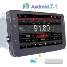"8"" GPS Radio Android 7.1 Car Stereo for Superb/Octavia/Fabia/Bora/Polo/Jetta/Sagitar/CC Head Unit Bluetooth Autoradio+4G Dongle"