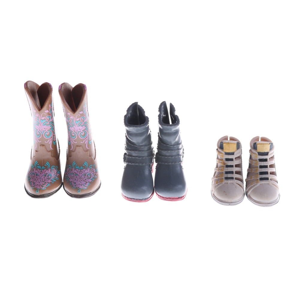 1Pair Random Color And Styles Fashion Boots Colorful High Heels Shoes Boots Cute DIY Clothes For   Doll Accessories Gifts