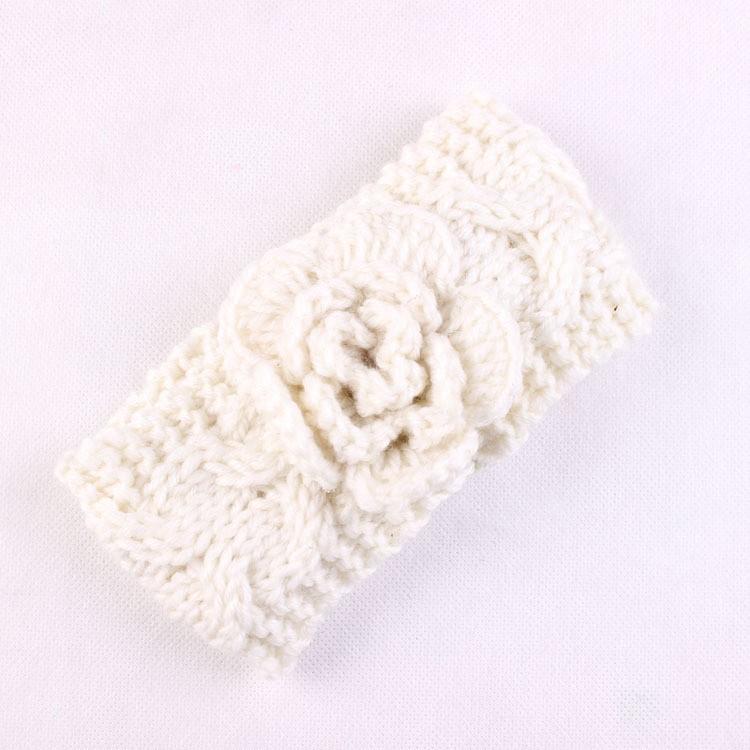 Recién nacidos girls knit crochet turbante diadema diadema ...