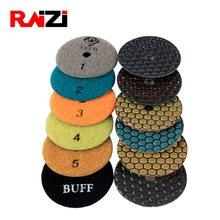 Raizi 80/100 мм Шаг 5 сухой полирующие коврики/диск для гранита