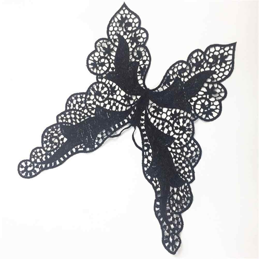Поддельный Воротник бабочка кружева DIY шеи воротник ремесло украшение аппликация кружевная ткань шитье свитер подкладка декоративная отделка