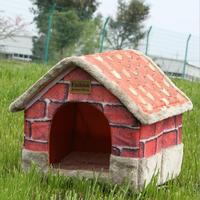Winter Detachable Cat Bed Dog House Retro Foldable Pet House Dog Beds For Small Medium Dogs S M L XL