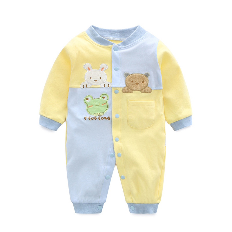 2018 Baby Rompers Cotton Newborn Baby Boys Girls Clothes Infant Roupa Baby Costume Long Sleeve Baby Clothing Set Jumpsuits цена