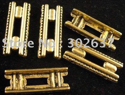 FREE SHIPPING 60Pcs Antiqued gold 2 holes railway spacer bar A1308G