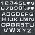 10 PCS 1 conjunto DIY Etiqueta Do Carro Styling Chrome 3D Auto-adesivo Carta de prata preto Número Símbolo de Palavras Para Auto e Parede decoração