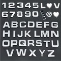 10PCS 1 set DIY Car Sticker Styling Chrome 3D Self-adhesive Silver Letter black Number Symbol Words For Auto and Wall Decoration