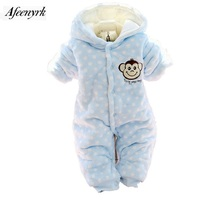 Kids Suits Autumn Winter Newborn Clothes Boys Girls Jumpsuits Infant Cartoon Thickening Cotton Soft Long Sleeve