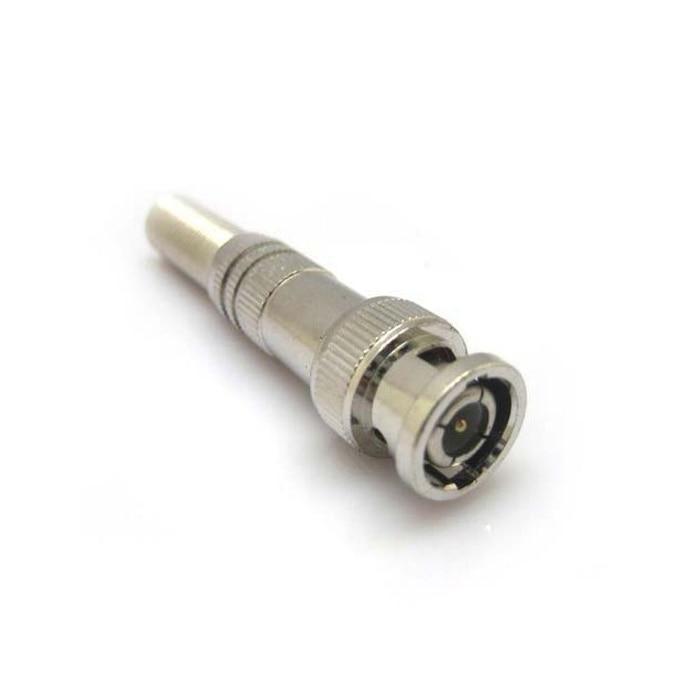 CCTV BNC Connector 10pcs Copper Pin CCTV BNC Male Video Plug Coupler Welded BNC Connector  CBDZ Free Shipping