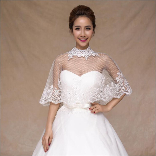 Fashion Exquisite Crystal 2018 New Ivory Big Lace Edge Bridal ...