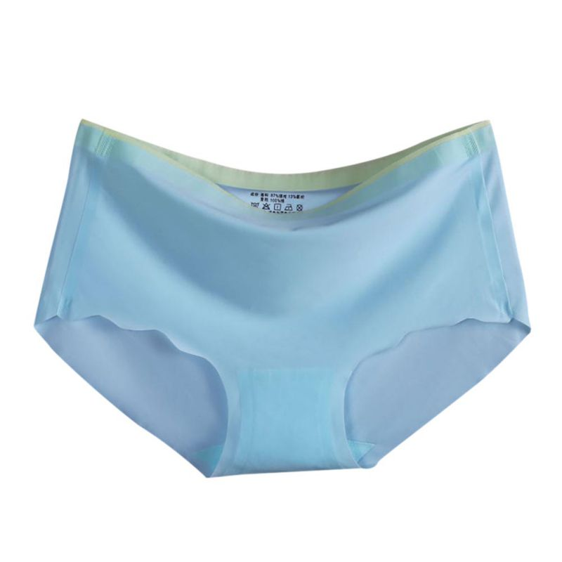 New Seemless Panties Women Sexy Underwear Briefs Ice Silk Half Transparent Seamless Panties Female Ladies Lingerie Undies