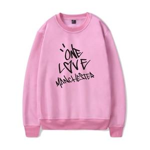 Image 3 - Nieuwe ONE LOVE MANCHESTER mode hip hop Mannen Vrouwen Hoodies capless Sweatshirts Lange Mouw o hals Sweatshirt Hoodie Trui Tops