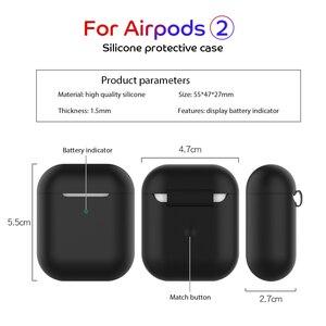 Image 5 - Funda protectora de silicona para AirPods 2, a prueba de golpes, para Apple AirPods