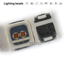 100PCS/Lot 1W High Power LED diode light emitter SMD 3030 660nm Chip 2Volt 350MA 120LM red blue white green yeloww недорого