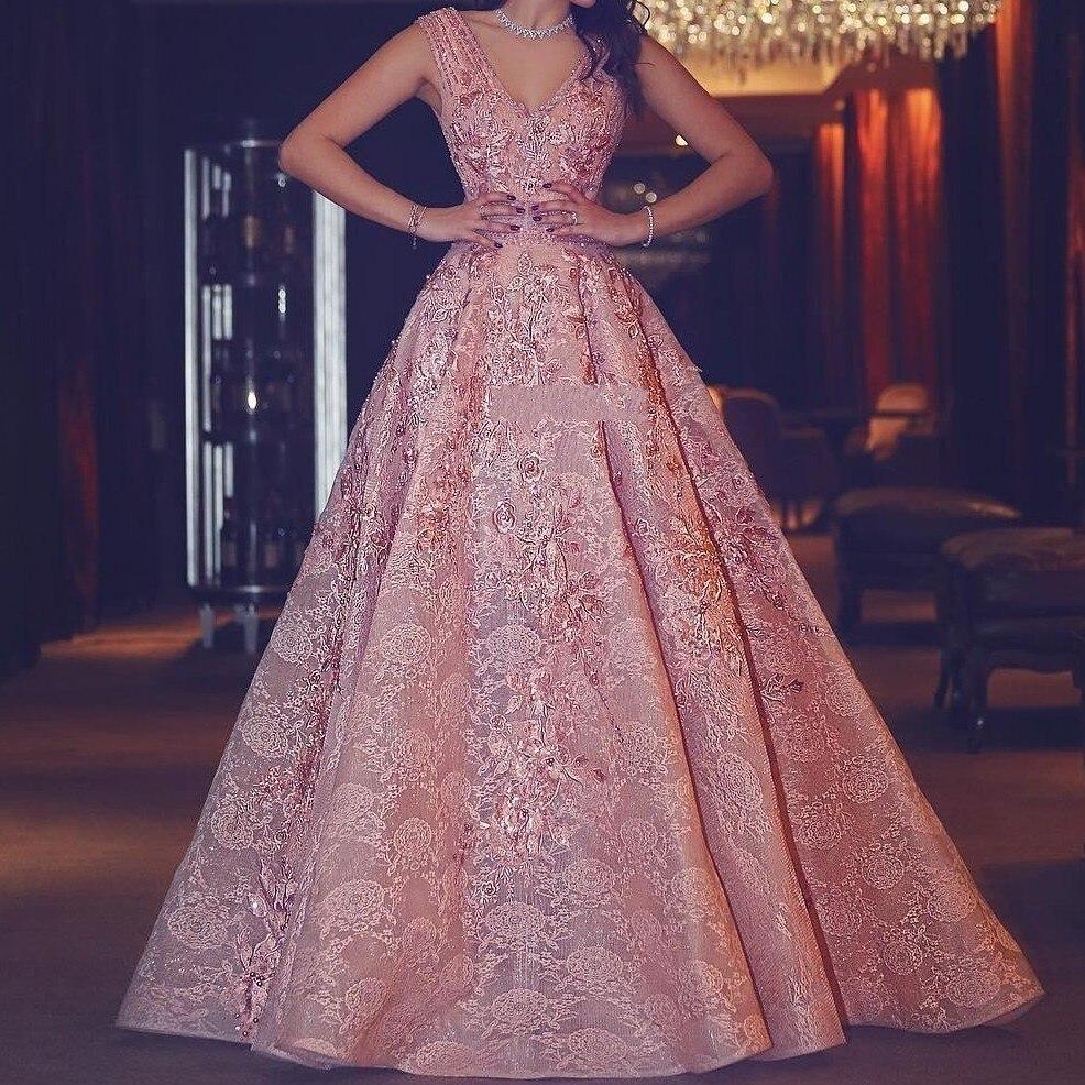 Dubai   Evening     Dresses   Luxury Appliques Customized Abendkleider abiti Elegant   Evening   Formal Gowns Tail A Line robe de soiree
