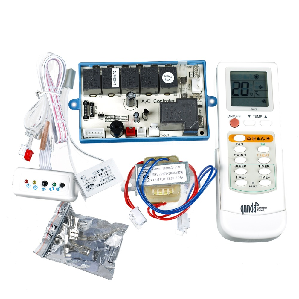hight resolution of group of air conditioning computer board plate modification board control panel qd53c with temperature display screen in remote controls from consumer