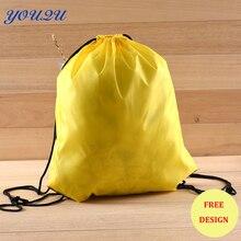 Мода Полиэстер drawstring сумка Нейлоновый Шнурок нейлоновая Сумка хозяйственная сумка низкая цена + депозитный принимаются