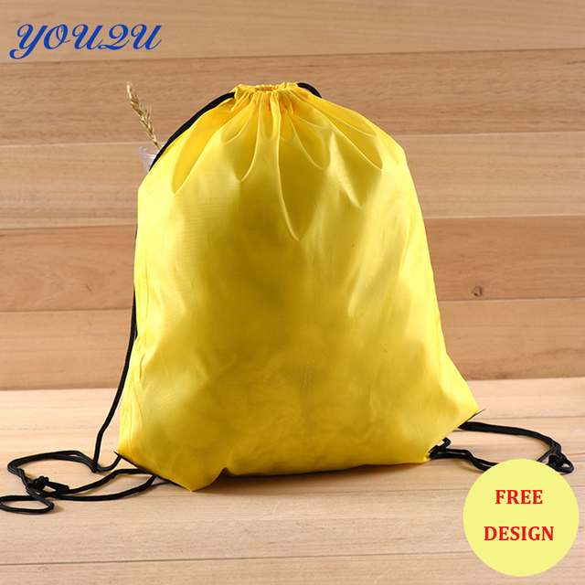US $432 0 |Fashion Polyester drawstring bag Nylon Drawstring Bag nylon  shopping bag lowest price+escrow accepted-in Shopping Bags from Luggage &  Bags