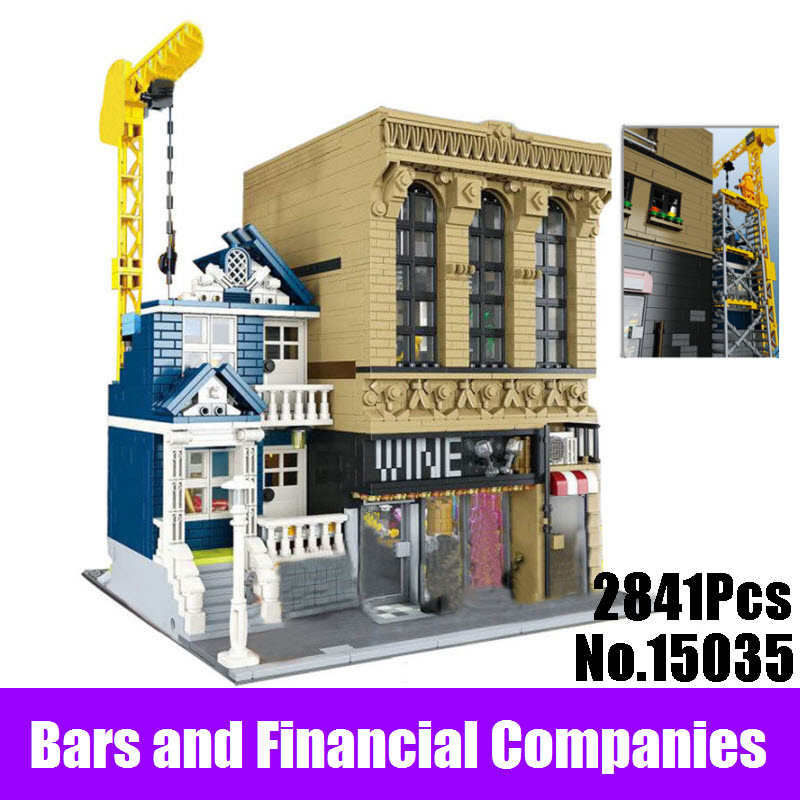 Lepin 15035 2841Pcs Creative MOC The Bars and Financial Companies Set Educational Building Blocks Bricks Children Birthday Toys explaining and predicting financial distress using financial ratios