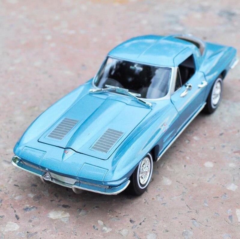 Chevrolet Corvette 1963,1: 24 avancée alliage modèle de voiture, diecast metal modèle véhicules jouets Collection Modèle, livraison gratuite