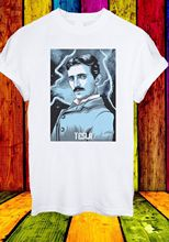 Nikola Tesla Genius Inventor Electric Wizard Art Men Women Unisex T-shirt 42 New T Shirts Funny Tops Tee  free shipping