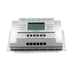 Image 3 - MPPT T40 40A ソーラー充電レギュレータ 12 V 24 V 自動 Lcd ディスプレイコントローラ負荷デュアルタイマー制御のための街路灯システム