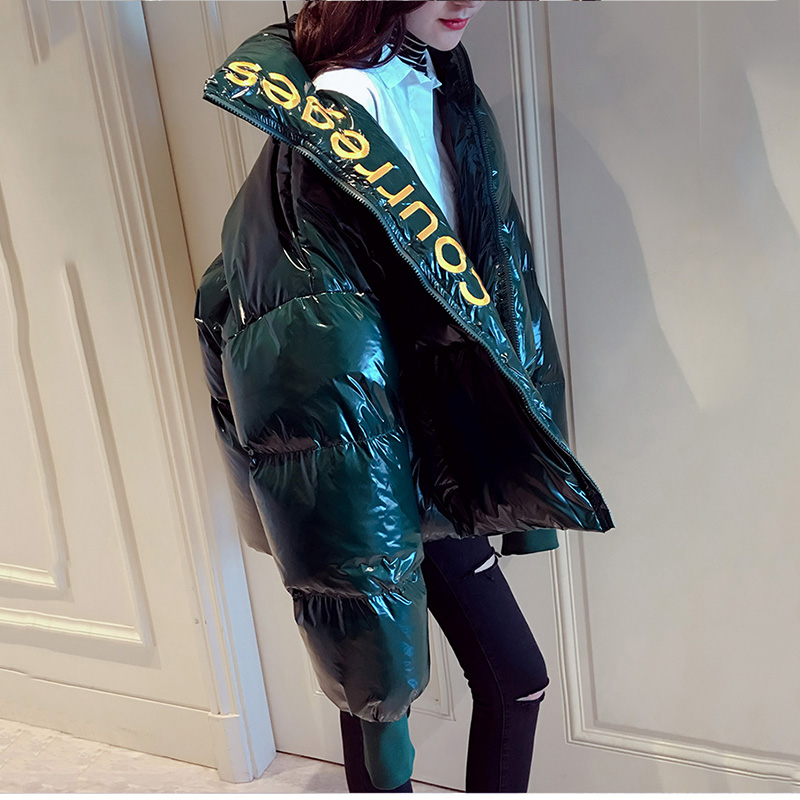 Taille Imperméable Veste army Lâche Manteau Hiver 2019 Vers Bas Green Le Chaud Noir Grande Femmes Épaisse Parka Brodée Brillant rouge De OpvBqpz