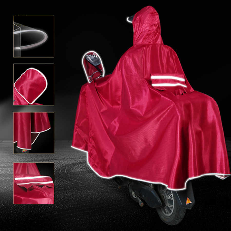 Impermeable impermeable de la motocicleta impermeable largo impermeable de las mujeres Gabardina Hombre lluvia cubierta al aire libre lluvia Gabardina mujer WKR162