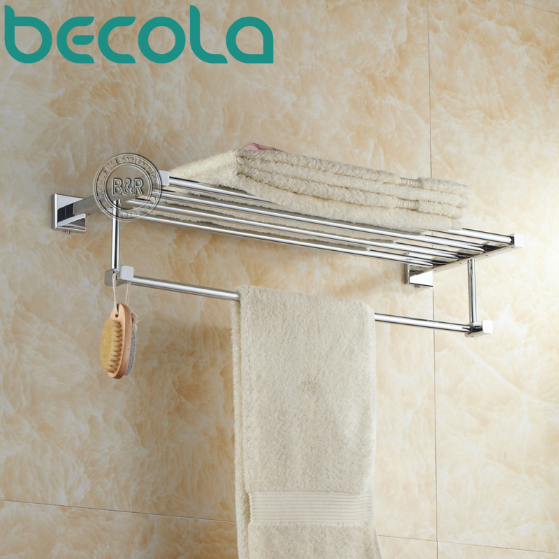 Free Shipping Bath Towel Rack Bathroom Accessories Products Chrome Towel Bar Brass Towel Holder B-87001 free shipping ba9105 bathroom accessories brass black bronze toilet paper holder