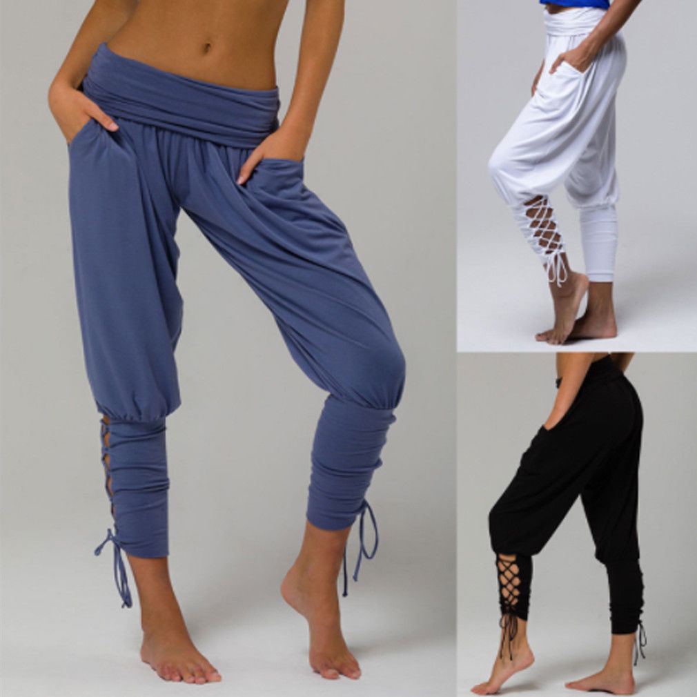 eba99149c38 2018 Brand New Women s Ladies Soft Pleated Bandage Trousers Plus Size  Summer Pants Casual Holiday Beachwear Chinos-in Pants   Capris from Women s  Clothing ...