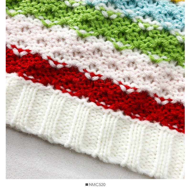 HELIAR 夏女性とキャミソール虹色ストライプ Knited 作物トップス綿キャミソール女の子らしいかわいいカラフルなキャミソール 2019