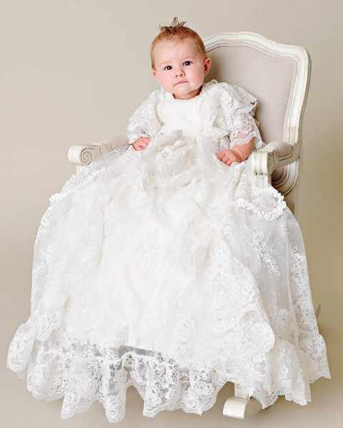4f34bc24 Gorgeous Lace White/Ivory Blessing Heirloom Dress Christening Gown with  Bonnet Baby Girls Boys Baptism