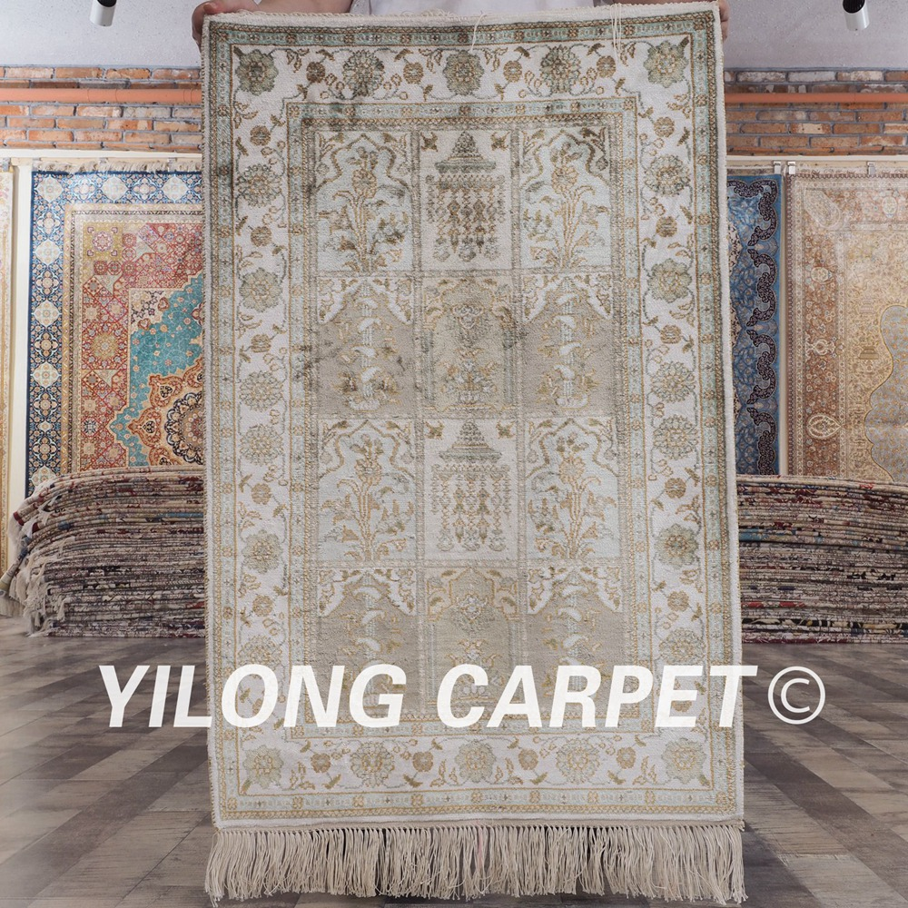 YILONG 2x3 silk carpet on sale handmade exquisite four season rugs (YHW216B2x3)