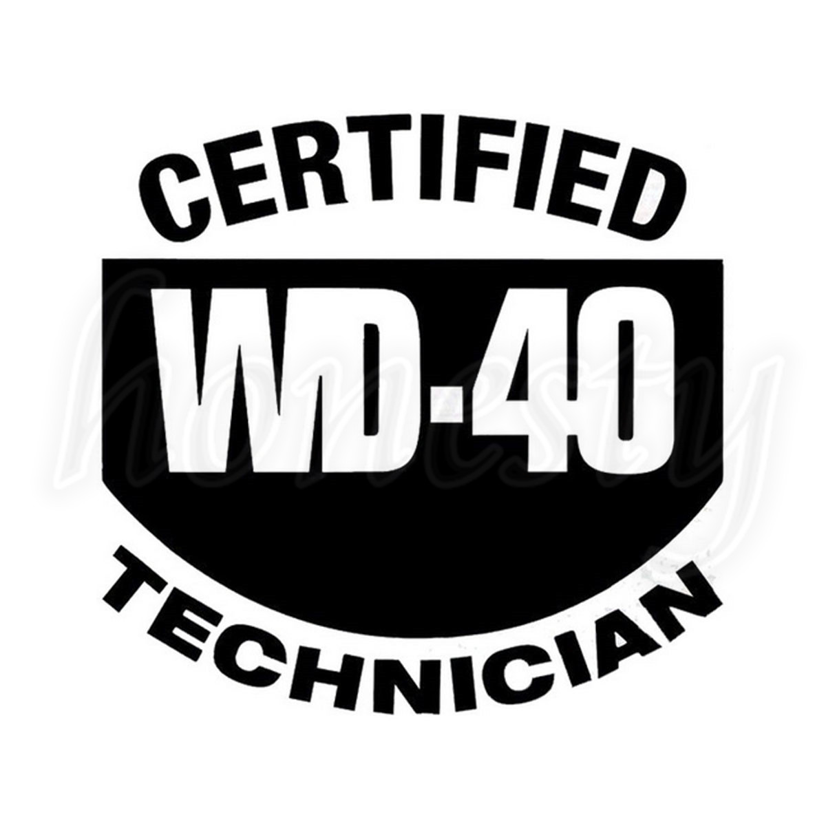 Zertifiziert Wd40 Techniker Fenster Glas Auto Aufkleber