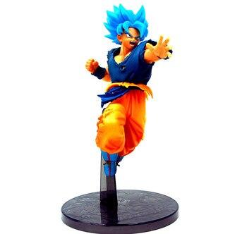 143bb70f6 21 cm anime japonés figura de la bola del dragón del pelo azul  Goku Kakarotto Vegeta figura de acción de colección modelo Juguetes para  los niños