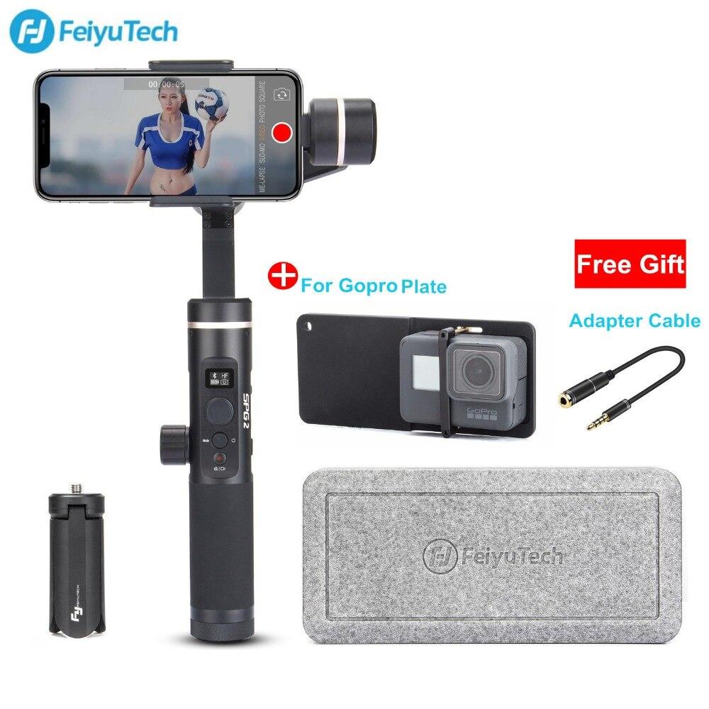 FeiyuTech Feiyu SPG 2 3 axes stabilisateur de main téléphone cardan résistant aux éclaboussures pour iPhone Samsung Galaxy Xiaomi Gopro Smartphones
